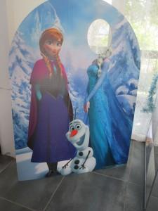 Anniversaire Reine des neiges photobooth