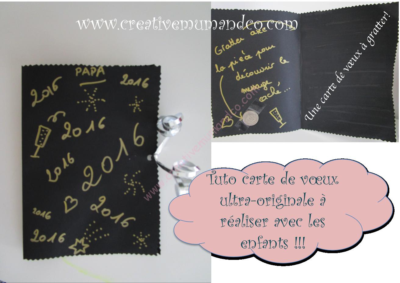 10 cartes de voeux ultra originales r aliser avec les enfants tuto 2 - Tuto carte de voeux ...