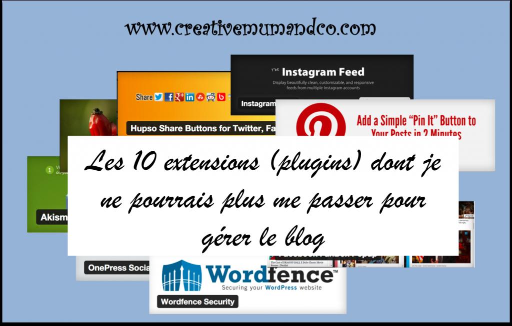 10 extensions blog par Creativemumandco