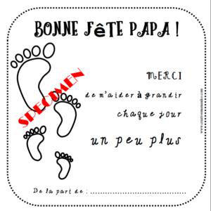 carte fête des papas pied bébé