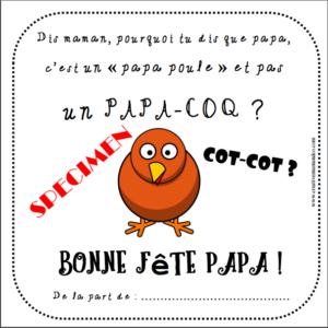 carte fête des papas papa poule