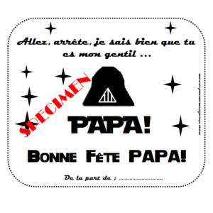 carte fête des papas Dark Vador