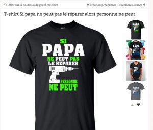 Tee shirt Fete des Papas
