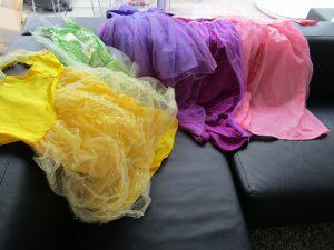 Anniversaire Raiponce: les robes de princesses