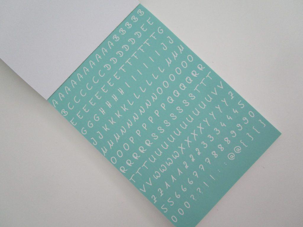 Creative Pad Avenue Mandarine lettres