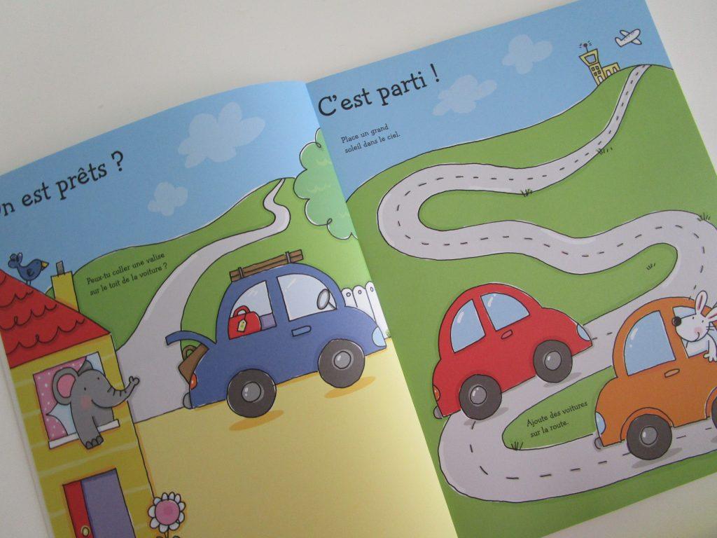 livres d'activités sur les vacances Usborne autocollants page 1