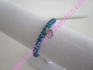 Tuto de bracelet tissé modèle turquoise