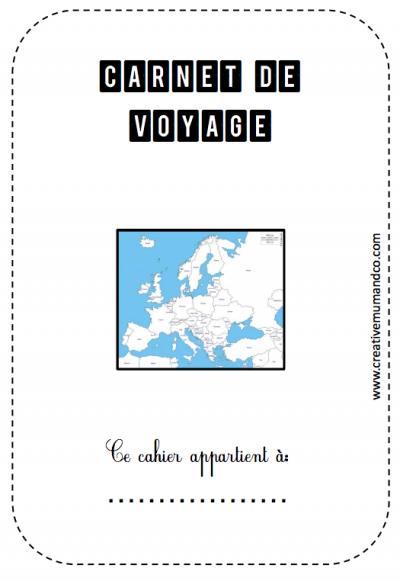Un carnet de voyage à imprimer pour les enfants