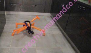araignée noir orange ballons tuto
