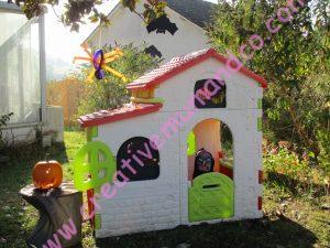 Décoration d'halloween, la maison de sorcière