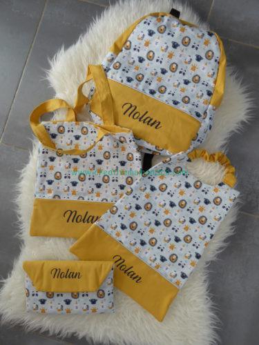 ensemble sac maternelle