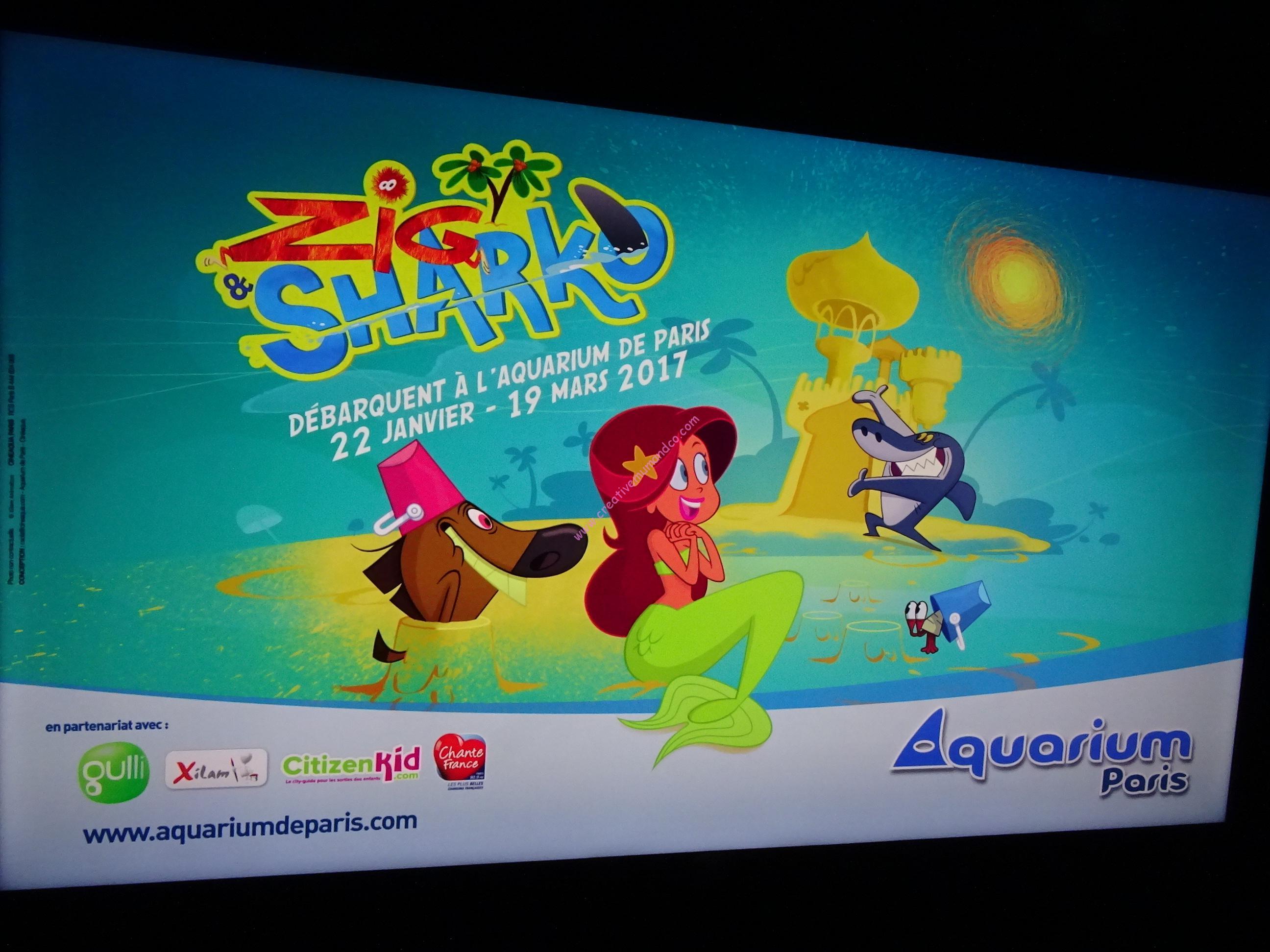 Exposition Zig Et Sharko à L Aquarium De Paris