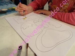 activité manuelle dinosaure peinture