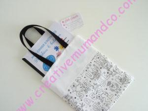 tote bag sac plat maternelle tissu alphabet