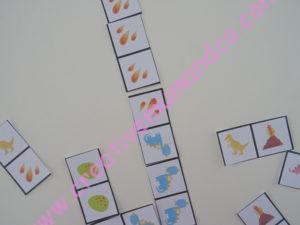 jeu de dominos thème dinosaures