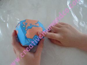 globe terrestre en papier Afrique
