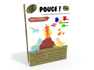 couverture livret d'activités manuelles sur le thème des dinosaures