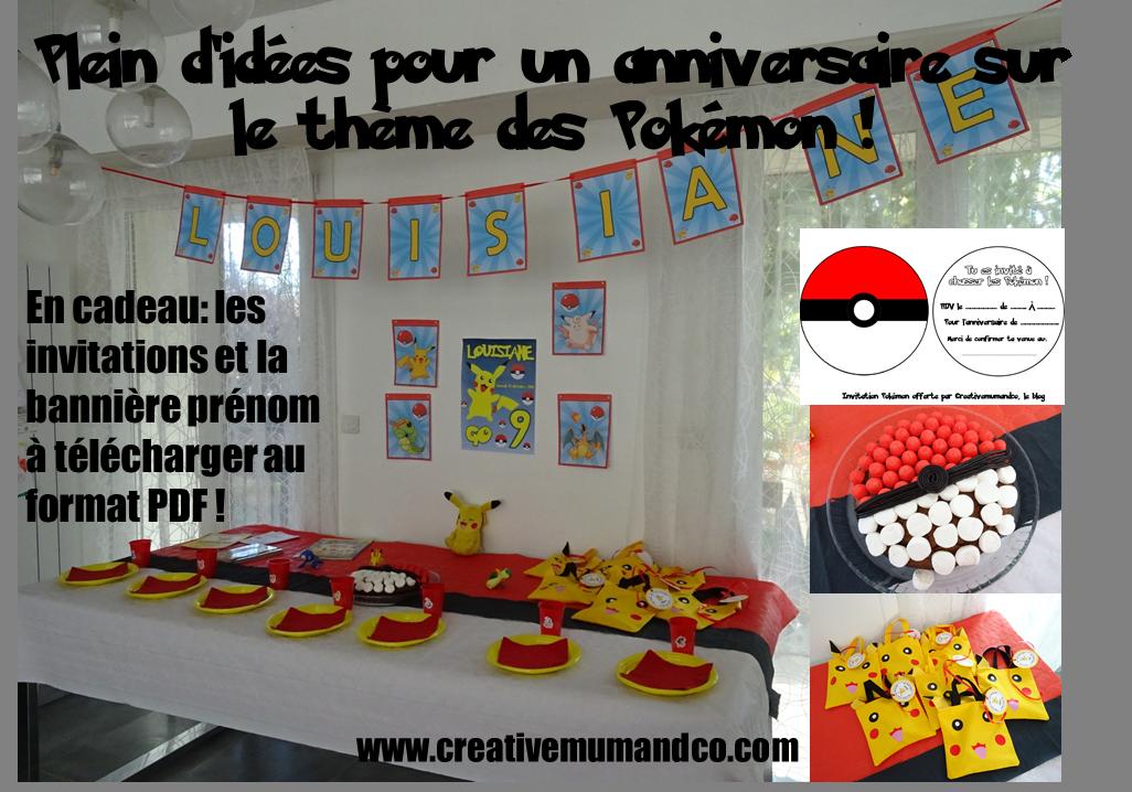 Pdf Un Anniversaire Pokemon Les Invitations La Deco Et Le Gateau Pokemon Party Ideas