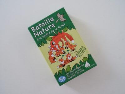 jeu de bataille sur le thème des animaux forêt